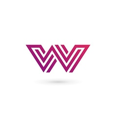Letter W logo icon design template elements vector image vector image