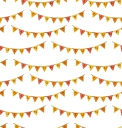 Seamless Pattern with Autumn Bright Buntings vector image vector image