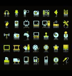 web icon set vector image vector image