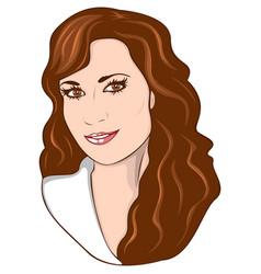 beauty woman portrait vector image