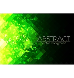 Bright green grid abstract horizontal background vector image