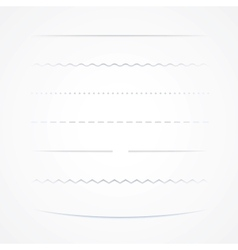 Dividers Isolated On White Background vector image