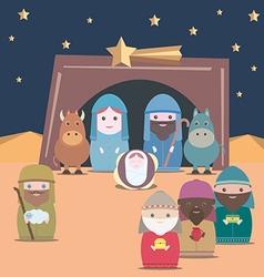 Nativity christian vector image vector image