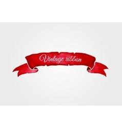 Watercolor vintage ribbon vector image