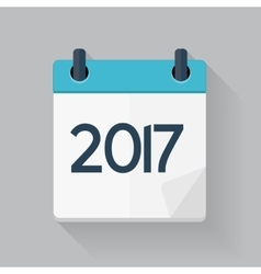 2017 New Year Calendar Flat Daily Icon Template vector image vector image