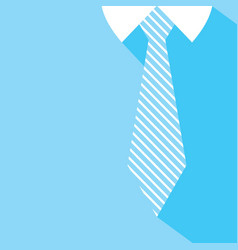 fathers day background tie and blue shirt vector image vector image