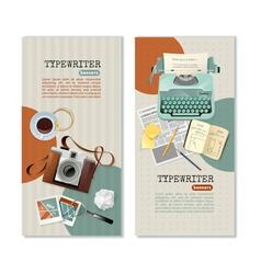 Journalist Typewriter Vertical Banners vector image vector image