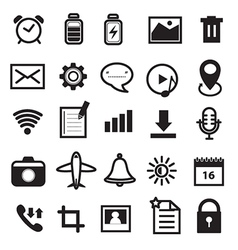 Mobile Phone and Application Icons Set vector image