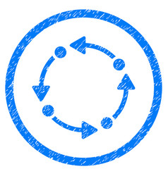 rotate rounded grainy icon vector image vector image