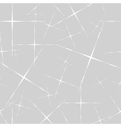 Seamless with thin stars on grey vector image