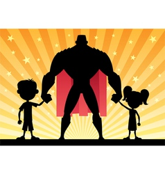 Super Dad vector image vector image