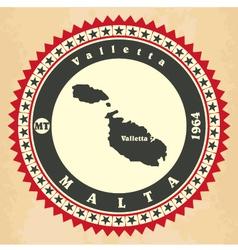 Vintage label-sticker cards of Malta vector image vector image