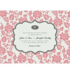 wedding Invitation Templates vector image vector image