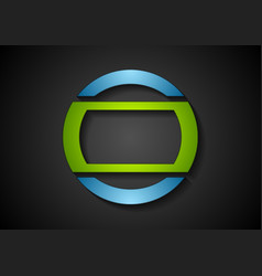 Abstract green blue geometric logo design vector image vector image