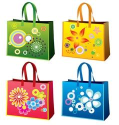 Colourful shopping bag vector