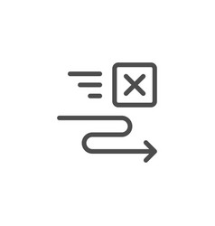 Freight transportation line icon vector