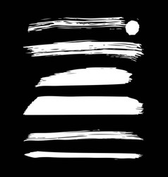 set of artistic white paint hand made creative ink vector image
