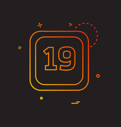 19 date calender icon design vector