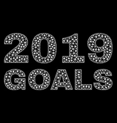 2019 goals text in polygonal mesh style vector