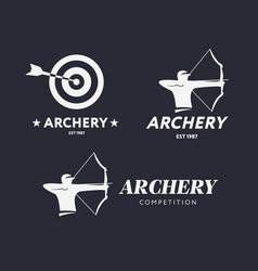 abstract archery logo badge concept vector image