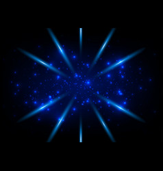 abstract blue ligth space concept background vector image