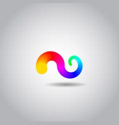 Abstract twist icon or symbol vector