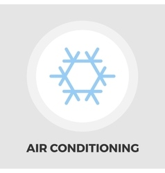 Air conditioning flat icon vector