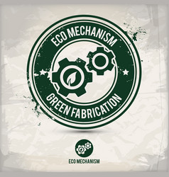 Alternative eco mechanism stamp vector