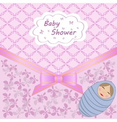 baby shower with boy vector image