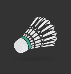 Badminton shuttlecock or badminton ball vector