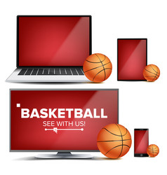 basketball application field basketball vector image