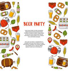 beer cartoon doodle background pattern vector image