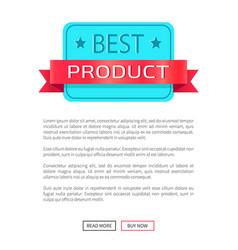 Best product award certificate discount label vector