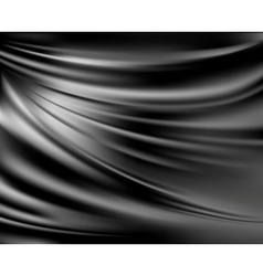 Black abstract satin curtain background vector image