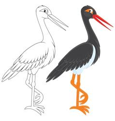Black Stork vector image