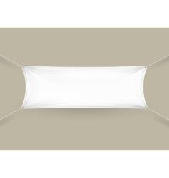 Blank white rectangular horizontal banner vector
