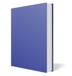 blue book standing isolated vector image