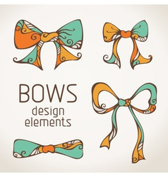 bows on paper background vector image vector image