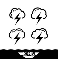 cloud with thunder icon vector image