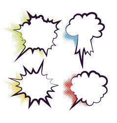 comics dialog empty cloud bubble vector image