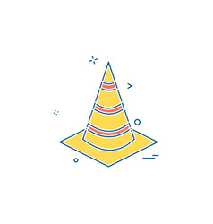 cone icon design vector image