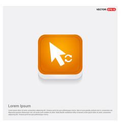 Cursor icon orange abstract web button vector