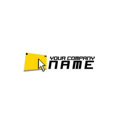cursor pixels logo design vector image