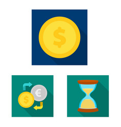 design of bank and money sign collection vector image