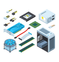 Different electronic parts and vector