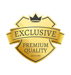 Exclusive premium quality since 1980 golden label vector