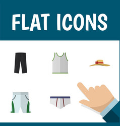 Flat icon clothes set of elegant headgear vector