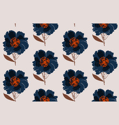 floral peony seamless pattern flowers isolated vector image