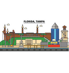 florida tampa city skyline architecture vector image