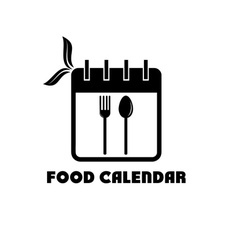 food calendar concept vector image